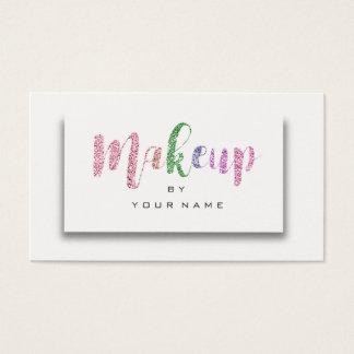 Cartão De Visitas Artista Pastel cor-de-rosa 3D do roteiro da