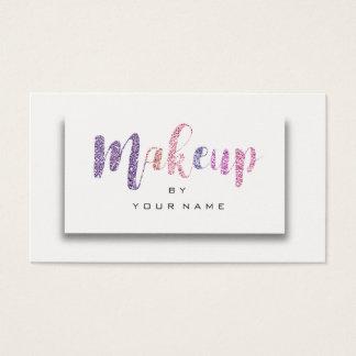 Cartão De Visitas Artista roxo cor-de-rosa 3D do roteiro da