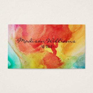 Cartão De Visitas Artistas originais coloridos profissionais