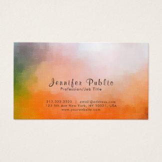 Cartão De Visitas Artístico abstrato elegante moderno profissional