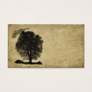 Cartão De Visitas Árvore & corvo austeros solitários artísticos