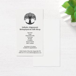 Cartão De Visitas Árvore da loja de lembranças espiritual vertical
