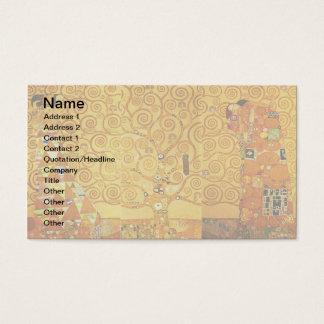 Cartão De Visitas Árvore de Gustavo Klimt da arte Nouveau da vida