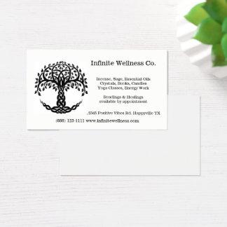 Cartão De Visitas Árvore de presentes metafísicos da livraria da
