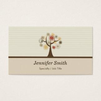 Cartão De Visitas Árvore de vida elegante - tema natural