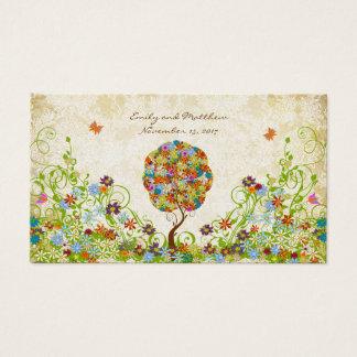 Cartão De Visitas Árvore floral Enchanted do conto de fadas dos