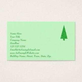 Cartão De Visitas Árvore verde. Natal, abeto, árvore verde