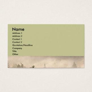Cartão De Visitas Árvores e névoa