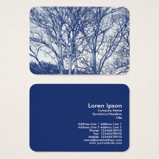 Cartão De Visitas Árvores no inverno - efeito de Cyanotype