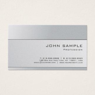 Cartão De Visitas As cinzas de prata elegantes profissionais Plain o