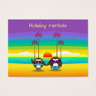 Cartão De Visitas as corujas realizam-se de volta às férias!