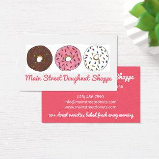 Cartão De Visitas As filhóses da rosquinha polvilham a padaria