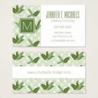 Cartão De Visitas As folhas de palmeira tropicais   adicionam seu