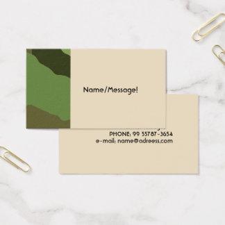 Cartão De Visitas As forças armadas tradicionais camuflam