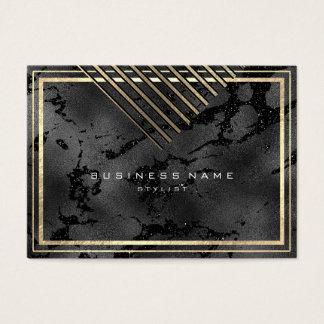 Cartão De Visitas As listras douradas moldaram o encanto mínimo do