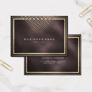 Cartão De Visitas As listras douradas moldaram o preto Glas da