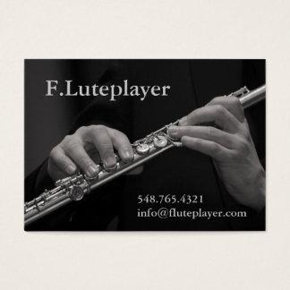 Cartão De Visitas as mãos de jogador de flauta na flauta