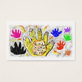 Cartão De Visitas as mãos do deus são mais grandes