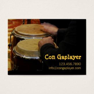 Cartão De Visitas as mãos dos congaplayer no instrumento