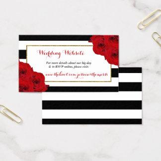 Cartão De Visitas As rosas vermelhas Luxe modernas chiques da
