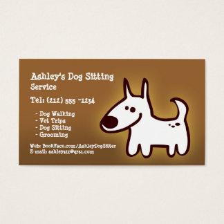 Cartão De Visitas Assento CUSTOMIZÁVEL do cão, preparando, andando