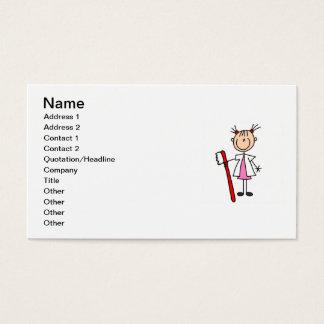 Cartão De Visitas Assistente dental com escova de dentes