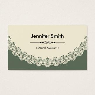 Cartão De Visitas Assistente dental - laço chique retro