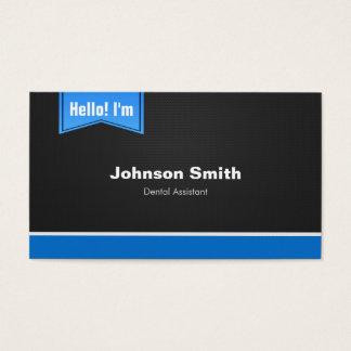 Cartão De Visitas Assistente dental - olá! contacte-me