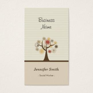 Cartão De Visitas Assistente social - tema natural à moda