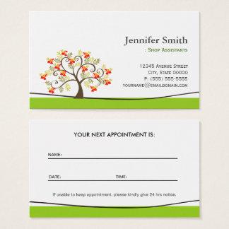 Cartão De Visitas Assistentes de loja da forma - nomeação