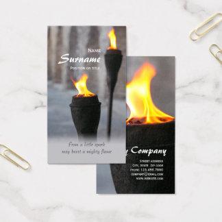 Cartão De Visitas Ateie fogo a tochas ardentes de pouca faísca