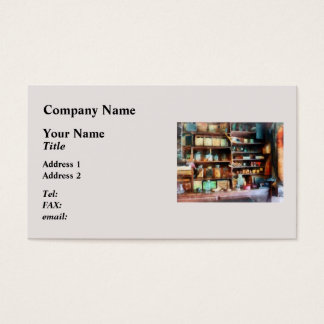 Cartão De Visitas Atrás do contador na loja geral
