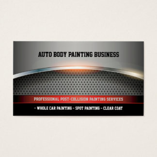 Cartão De Visitas Auto corpo que pinta | moderno