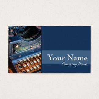 Cartão De Visitas Autor, escritor, ou editor Typewritter antigo