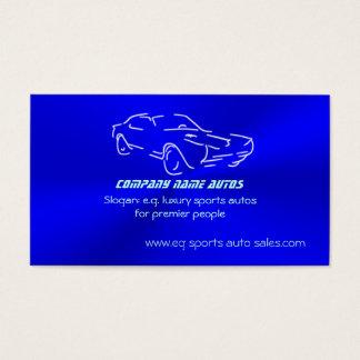 Cartão De Visitas Autosales, automóvel clássico Gelo-azul,