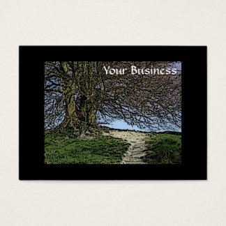 Cartão De Visitas Avebury, Wiltshire, Inglaterra. Árvore e trajeto