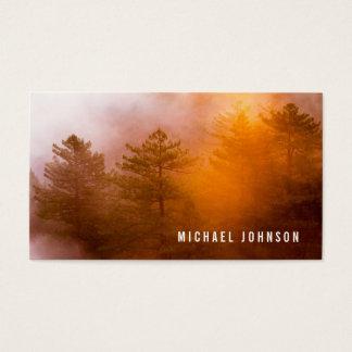 Cartão De Visitas Aventura da floresta da natureza