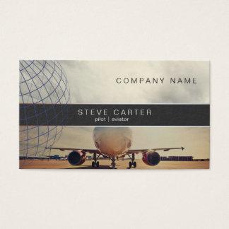 Cartão De Visitas Aviação piloto do mecânico do motorista do plano