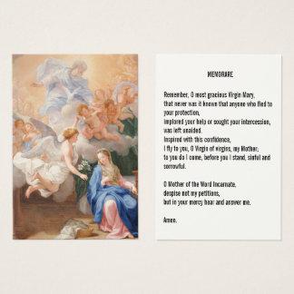 Cartão De Visitas Aviso da oração de Mary Memorare
