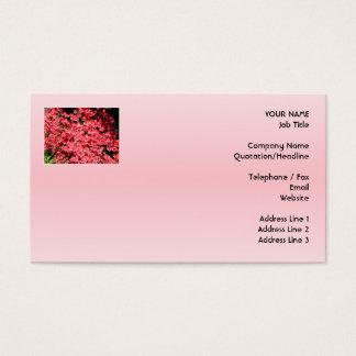 Cartão De Visitas Azáleas. Flores cor-de-rosa bonito
