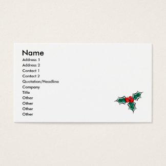 Cartão De Visitas Azevinho