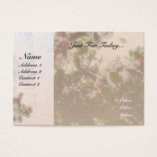 Cartão De Visitas Azevinho da oração da serenidade