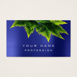 Cartão De Visitas Azuis cobaltos orgânicos da safira da samambaia