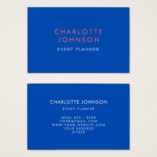 Cartão De Visitas Azuis cobaltos profissionais do planejador de