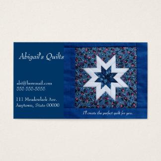 Cartão De Visitas Azul da estrela da edredão