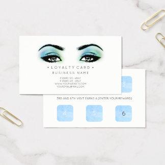 Cartão De Visitas Azul do salão de beleza do cliente do perfurador