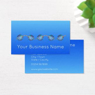 Cartão De Visitas Azul elétrico elegante simples moderno protegido