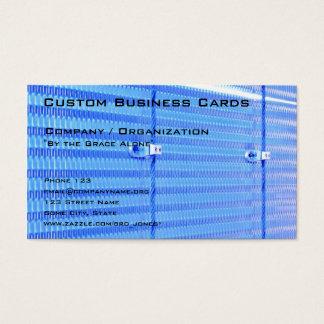 Cartão De Visitas Azul metálico