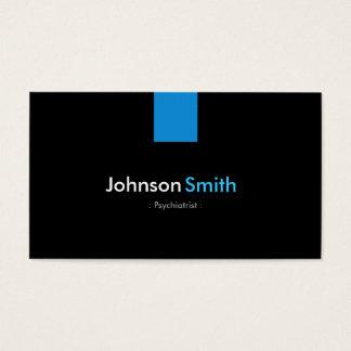 Cartão De Visitas Azul moderno do Aqua do psiquiatra