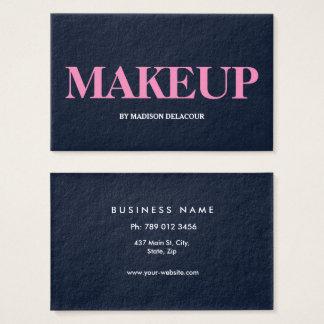 Cartão De Visitas Azul moderno elegante profissional & branco do
